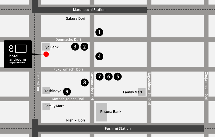 Nagoya Subway Map Pdf.Access Hotel Androoms Nagoya Fushimi Solare Official Business