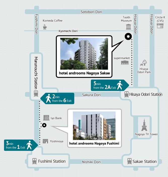 Nagoya Subway Map Pdf.Access Hotel Androoms Nagoya Sakae Solare Official Business