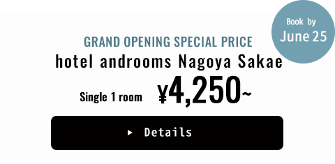 GRAND OPENING SPECIAL PRICE hotel androoms Nagoya Sakae Single 1 room ¥4,250~